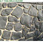 Kırma bazalt Duvar