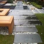 bazalt adım taşları ve çakıllar