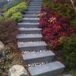 bazalt bahçe basamakları