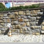 gebze taşı,kale taş,çarpma,pattern uygulama 5-7 cm