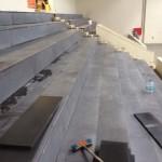 spor salonu tribünler Bazalt Kaplamalar