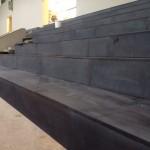 spor salonu oturma altı bazlt döşeme