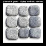 yarım 6-8 granit küptaş tamburlu eskitme