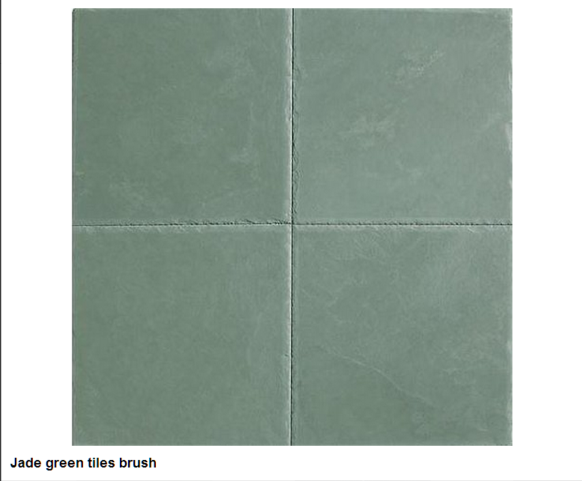 Jede green tiles, patineli