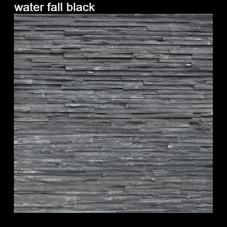 waterfall black