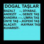 DOGAL TAŞLAR
