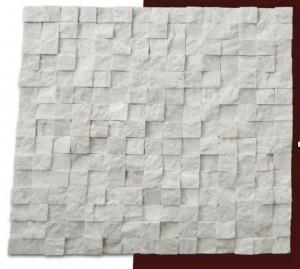 2x2 bej patlatma Fileli mermer mozaik