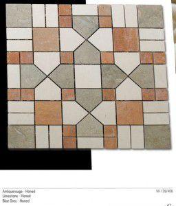 Antik fileli mermer mozaik