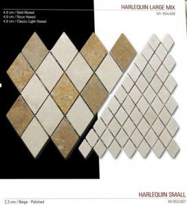 Baklava fileli mermer mozaik
