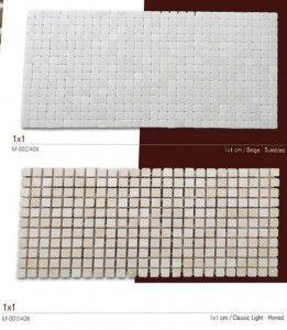 Birebir fileli mermer mozaik