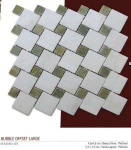 Bubble offset fileli mermer mozaik