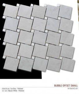 Bubble small fileli mermer mozaik