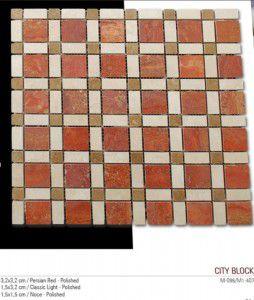 City block fileli mermer mozaik