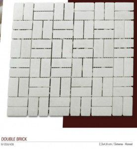 double brick fileli mermer mozaik