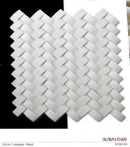 Duomo örme fileli mermer mozaik