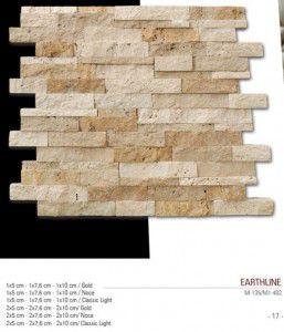 earthline patlatma fileli mermer mozaik
