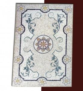 Fileli mermer mozaik halı 2184x122 cm