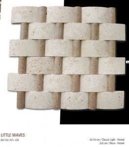 Little waves fileli mermer mozaik
