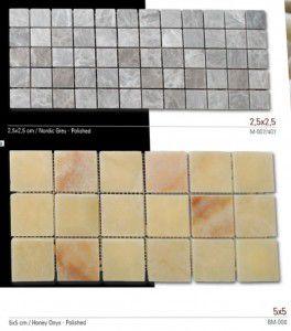 Fileli mermer mozaik 2,5x2,5 ve 5x5