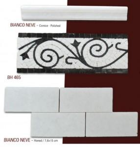 Fileli mermer mozaik set