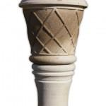 taş vazo işlemeli