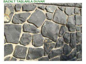 kırma bazalt sütun duvar