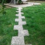 wash beton zigzag adım taşı