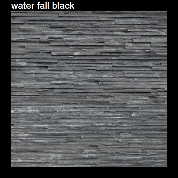 waterfall black