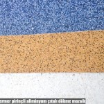 renkli,mermer pirinçli aliminyum çıtalı dökme mozaik