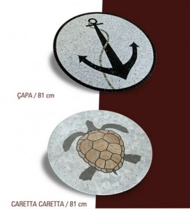 mermer mozaik madalyon çpa caretta