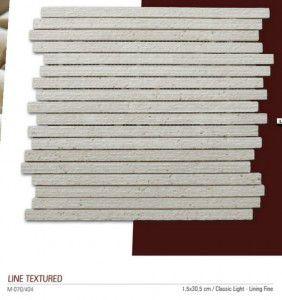 Lie textured filelimermer mozaik