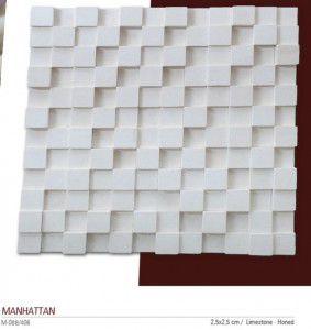 Manhattan fileli mermer mozaik