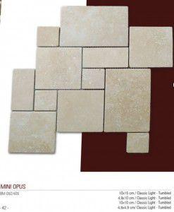 Mini opus fileli traverten mozaik