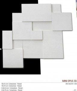 mini opus 3D fileli mermer mozaik