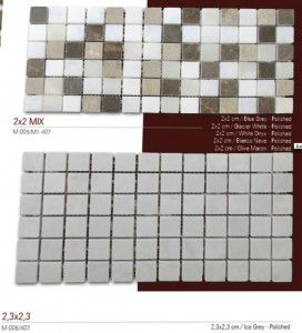 mix fileli mermer mozaik