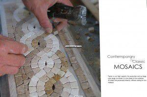 bordür fileli mermer mozaik