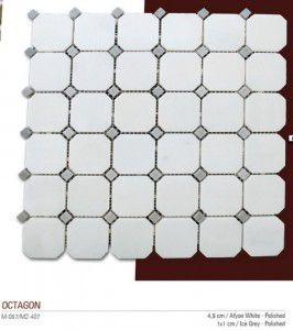 Octagon Fileli mermer mozaik