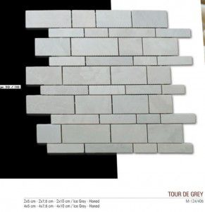 Tour de gray fileli mermer mozaik