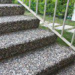 wash beton basamak mix. agrega